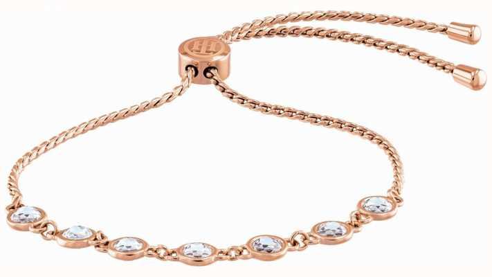 Tommy Hilfiger Classic Signature | Crystal Set | Rose Gold Plated Bracelet 2780227