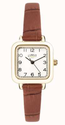 Limit | Womens Brown Leather Strap | White Dial | Gold Case | 60058.01