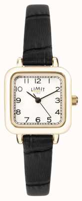 Limit | Womens Black Leather Strap | Silver Dial | Gold Case | 60059.01