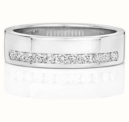 Treasure House 9k White Gold Diamond Set Half Eternity Ring RD552W