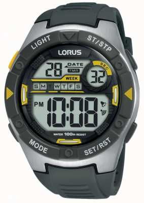 Lorus | Mens Sports Digital | Black Rubber Strap | R2397MX9