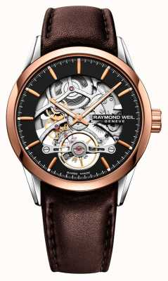 Raymond Weil Freelancer | Automatic | Skeleton Dial | Brown Leather Strap 2785-SC5-20001