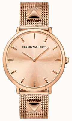 Rebecca Minkoff Womens Major | Rose Gold Plated Mesh | Rose Gold Dial | 2200003