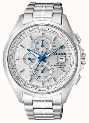 Citizen | Mens Eco-Drive World Chronograph A.T | Titanium Bracelet | AT8130-56A