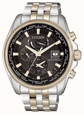 Citizen | Mens Eco-Drive World Time A.T | Stainless Steel Bracelet | AT9038-53E
