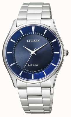 Citizen | Mens Eco-Drive | Stainless Steel Bracelet | Blue Dial | BJ6480-51L