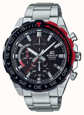 Casio |Edifice Chronograph | Stainless Steel Bracelet | Black Dial EFR-566DB-1AVUEF