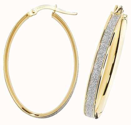 James Moore TH 9k Yellow Gold Oval Hoop Earrings ER1023-V4