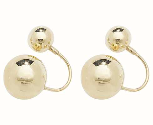 James Moore TH 9k Yellow Gold Double Ball Earrings ES546