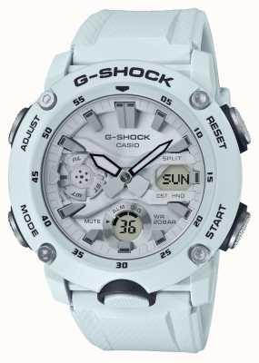 Casio | G-Shock Carbon Core Guard | White Rubber Strap | GA-2000S-7AER