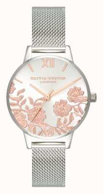 Olivia Burton | Women's | Lace Detail | Stainless Steel Mesh Bracelet | OB16MV90