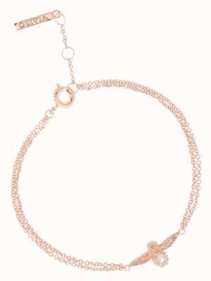 Olivia Burton   Bejewelled Bee   Rose Gold   Rose Quartz   Bracelet   OBJ16AMB26