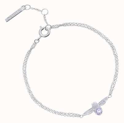 Olivia Burton   Bejewelled Bee   Silver   Tanzanite   Bracelet   OBJ16AMB28