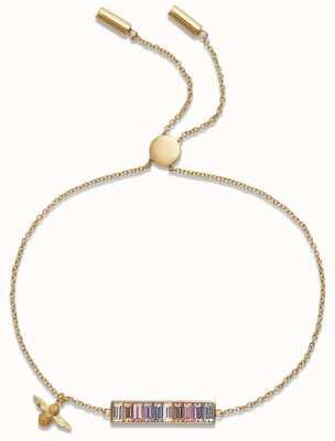Olivia Burton   Rainbow Bee   Baguette Bar   Gold   Bracelet   OBJAMB78