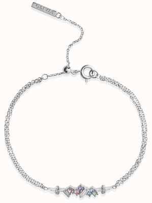 Olivia Burton   Rainbow Bee   Swarovski Crystals   Silver   Bracelet   OBJAMB81