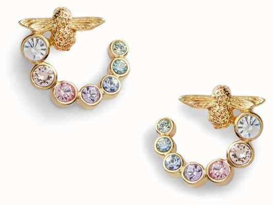 Olivia Burton   Rainbow Bee   Swarovski Swirl   Gold   Earrings   OBJAME132
