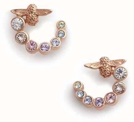 Olivia Burton   Rainbow Bee   Swarovski Swirl   Rose Gold   Earrings   OBJAME126