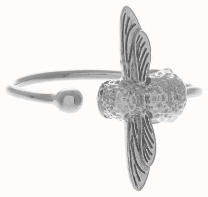 Olivia Burton   3D Bee   Silver   Ring   OBJ16AMR03