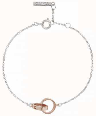 Olivia Burton   The Classics   Silver Rose   Interlink Circle   Bracelet   OBJENB15B