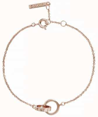 Olivia Burton   The Classics   Rose Gold   Interlink Circle   Bracelet   OBJENB13B