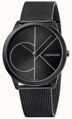 Calvin Klein Minimal | Black Mesh Bracelet | Black Dial | K3M5T451