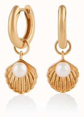Olivia Burton   Under The Sea   Gold   Huggie Hoop Shell Earrings   OBJSCE05