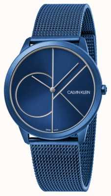 Calvin Klein | Womens | Minimal | Blue Mesh Strap | Blue Dial | K3M52T5N