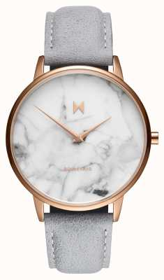 MVMT Boulevard Beverly Marble   Grey Leather Strap   Marble Dial D-MB01-RGLAMA