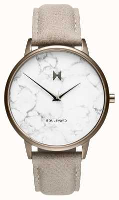 MVMT Boulevard Crescent Marble | Stone Leather Strap | Marble D-MB01-TIMA