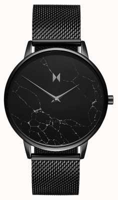 MVMT Boulevard Melrose Marble | Black PVD Mesh Bracelet D-MB01-BLMA