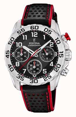 Festina | Unisex/Junior's Black Leather Strap | Black Dial | F20458/3