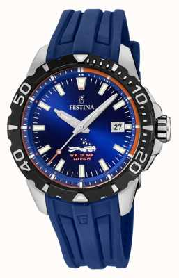 Festina | Mens Divers | Blue Rubber Strap | Blue Dial | F20462/1