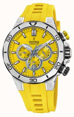 Festina Tour Of Britain 2019 | Yellow Silicone Strap | Yellow Dial | F20449/A