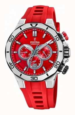 Festina Tour Of Britain 2019 | Red Silicone Strap | Red Dial | F20449/B