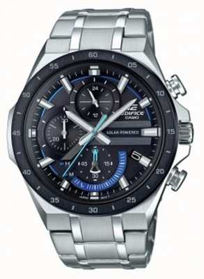 Casio | Edifice | Solar Power Chronograph | Black And Blue Dial | EQS-920DB-1BVUEF