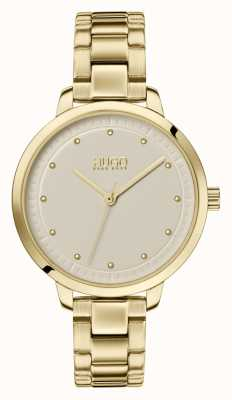 HUGO #Achieve | Gold IP Bracelet | Champagne Dial 1540039