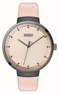 HUGO #Go | Pink Leather Strap | Rose Gold Dial 1540001