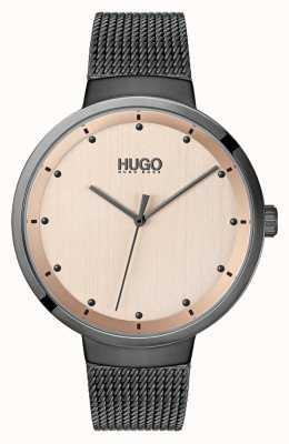 HUGO #Go | Grey IP Mesh | Rose Gold Dial 1540003