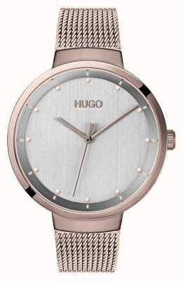 HUGO #Go | Rose Gold IP Mesh | Grey Dial 1540004