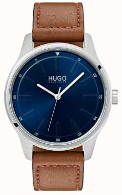 HUGO #dare | Brown Leather Strap | Blue Dial 1530029
