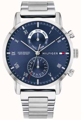 Tommy Hilfiger | Men's Stainless Steel Bracelet | Blue Dial | 1710401