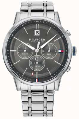 Tommy Hilfiger | Men's Stainless Steel Bracelet | Grey Dial | Chronograph | 1791632
