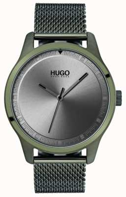 HUGO #move | Green IP Mesh Bracelet | Grey Dial 1530046