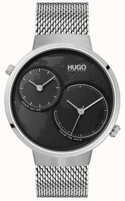 HUGO #travel | Stainless Steel Mesh | Black Dial 1530055
