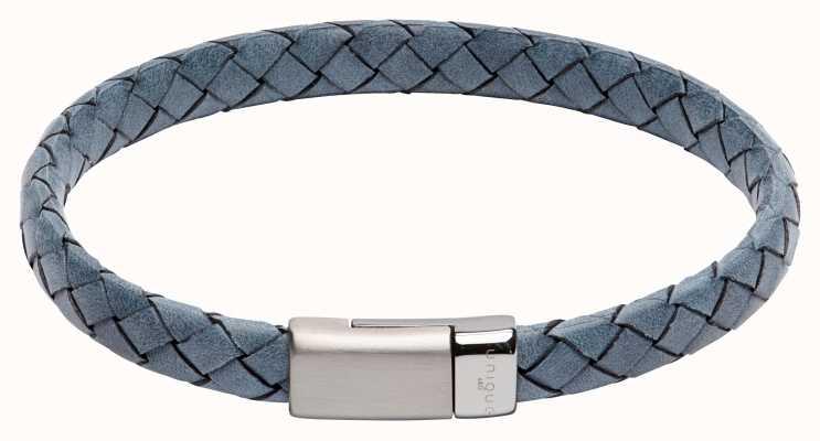 Unique & Co Blue Leather | Steel Clasp | Bracelet B446AB/21CM