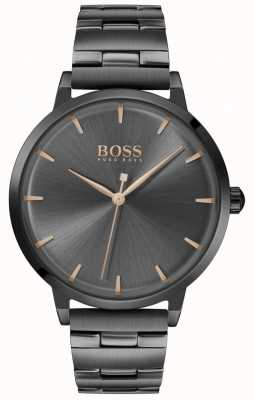 Boss | Women's Marina | Black PVD Plated Bracelet | Black Dial | 1502503