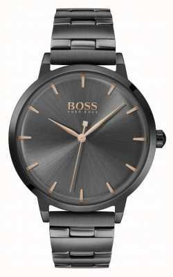 Boss   Women's Marina   Black PVD Plated Bracelet   Black Dial   1502503