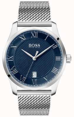 Boss   Men's Master   Stainless Steel Mesh Bracelet   Blue Dial   1513737