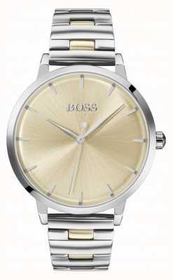 Boss   Women's Marina   Stainless Steel Bracelet   Gold Dial   1502500