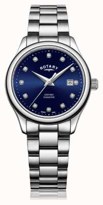 Rotary | Women's Oxford | Stainless Steel | Blue Sunray Dial | LB05092/05/D